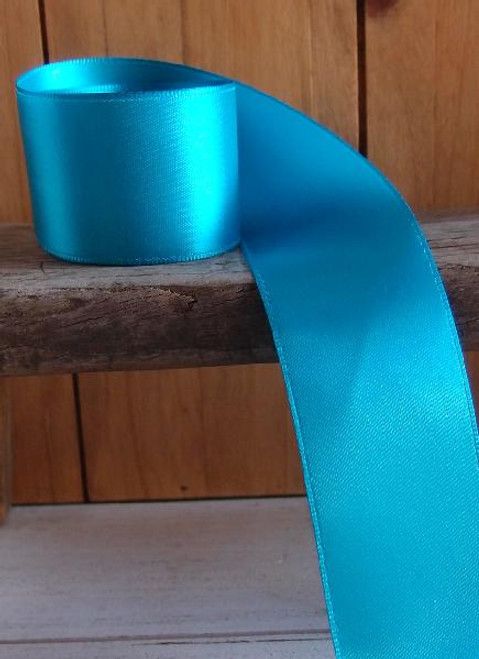 Turquoise Double Face Satin Ribbon (7 sizes)
