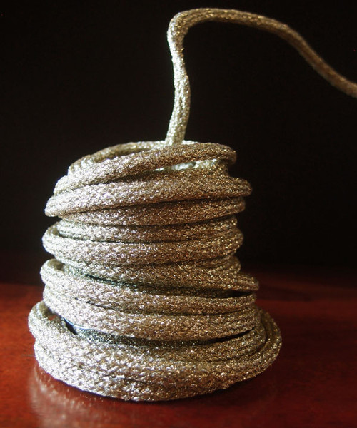 Antique Gold Wired Glittery Rope