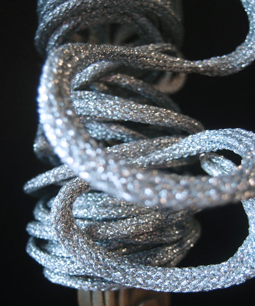 Silver Wired Glittery Rope