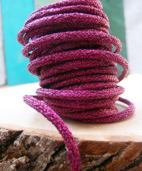 Fuchsia Wired Glittery Rope