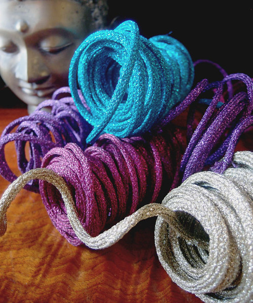 Turquoise Wired Glittery Rope
