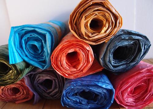 Italian Paper Garland - Mauve Ombre