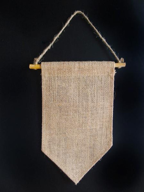 Burlap Hanging Wall Pennant Banners