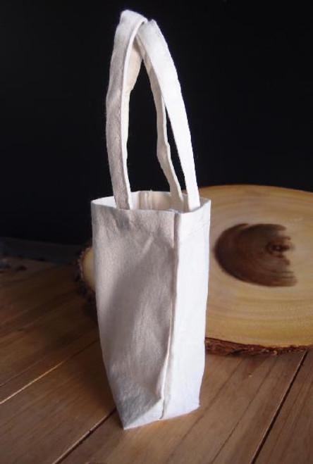 """Plain Cotton Favor Bags - 5"""" x 5"""" x 2"""""""