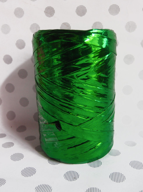 Metallic Green Raffia