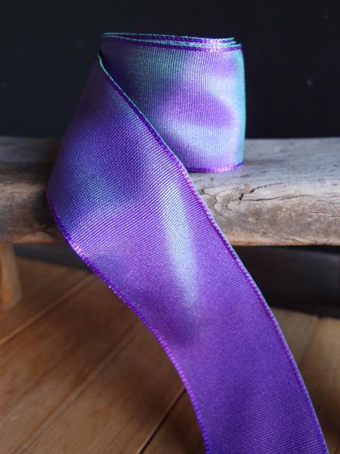 Purple Two-toned Grosgrain Ribbon with Wired Edge (1 size)