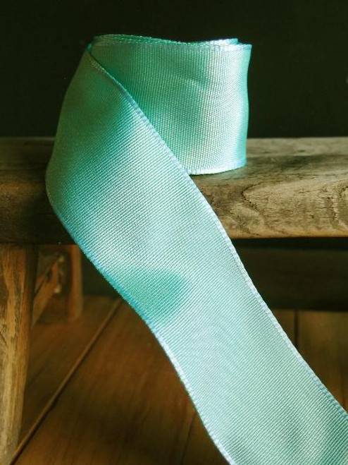 Aqua Two-toned Grosgrain Ribbon with Wired Edge (1 size)