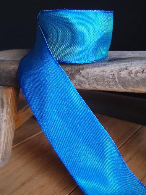 Blue Two-toned Grosgrain Ribbon with Wired Edge (1 size)