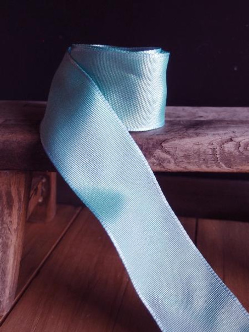Light Blue Two-toned Grosgrain Ribbon with Wired Edge (1 size)
