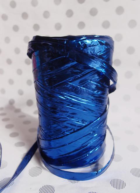 Metallic Blue Raffia