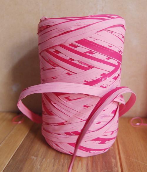 Upscale Raffia Pink & Red