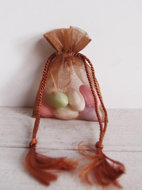 Copper Organza Bag with Tassel Drawstring (3 sizes)