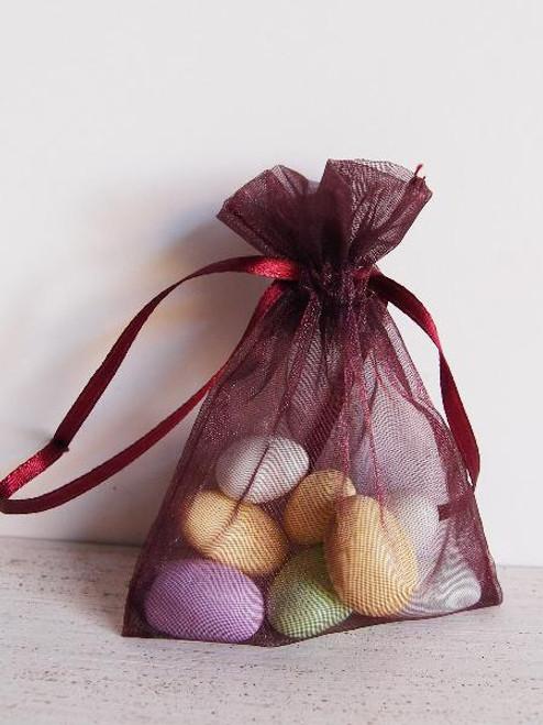 Burgundy Organza Bag with Ribbon String (13 sizes)