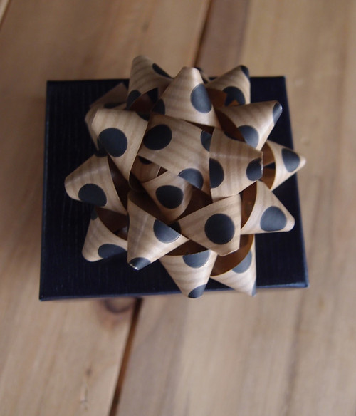 "Kraft Paper Black Dots 2"" Star Bows"