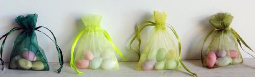 Hunter Green Organza Bag with Ribbon String (10 sizes)