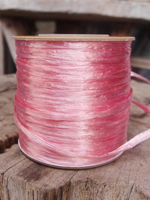 Pink Pearlized Raffia Roll