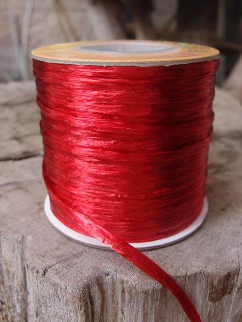 Red Pearlized Raffia Roll