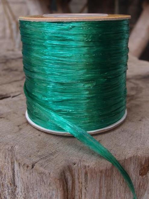 Emerald Green Pearlized Raffia Roll