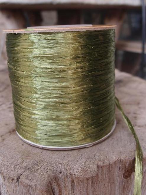 Moss Pearlized Raffia Roll
