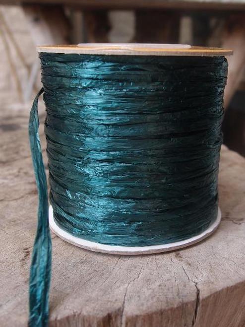 Hunter Green Pearlized Raffia Roll