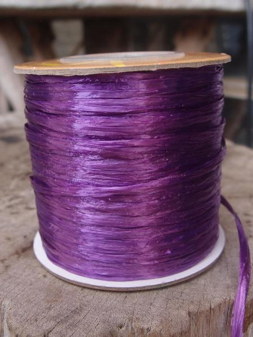 Purple Pearlized Raffia Roll