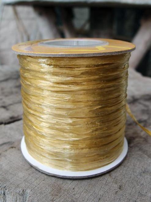 Antique Gold Pearlized Raffia Roll