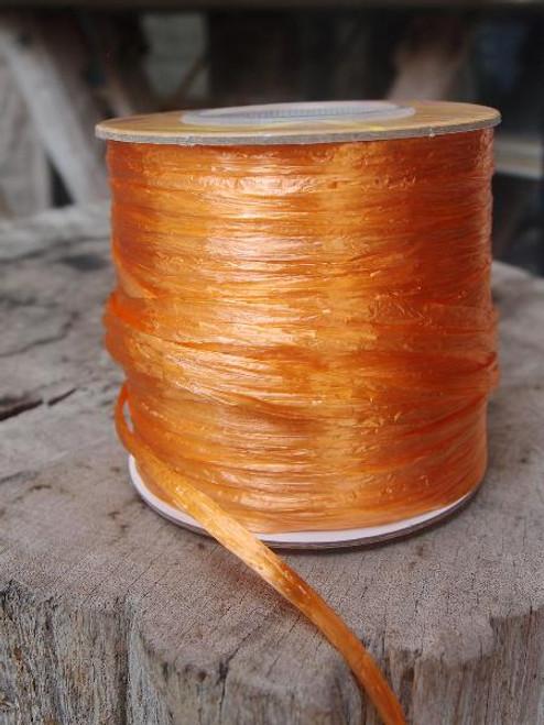 Orange Pearlized Raffia Roll