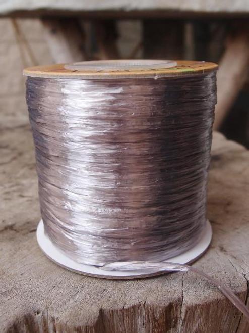 Silver Pearlized Raffia Roll