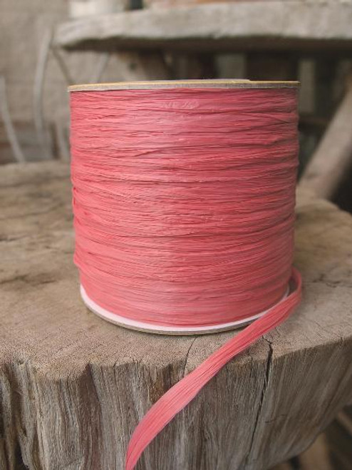 Coral Matte Raffia Ribbon 571-04, Wholesale Raffia Ribbon, Living Coral Ribbon | Packaging Decor