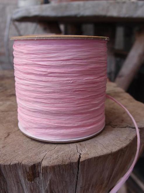 Pink Matte Raffia Ribbon