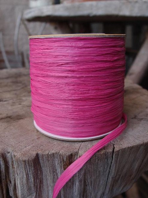 Hot Pink Matte Raffia Ribbon