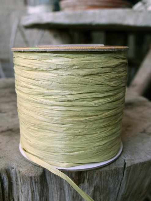 Green Willow Matte Raffia Ribbon