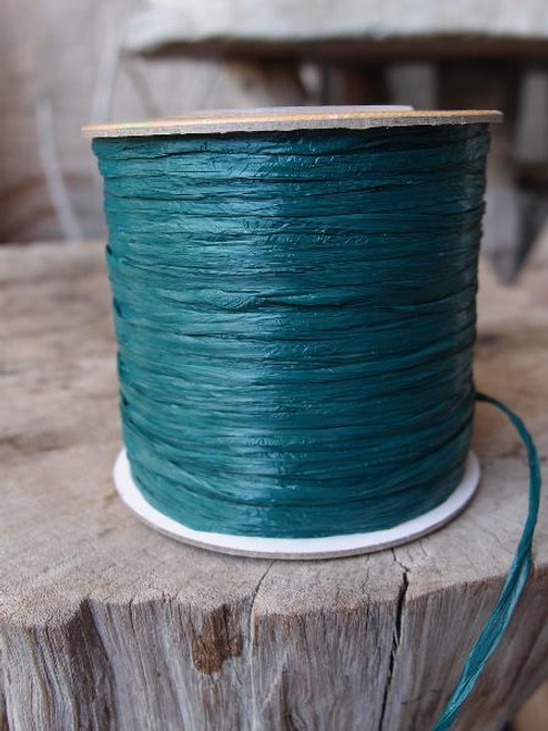 Hunter Green Matte Raffia Ribbon