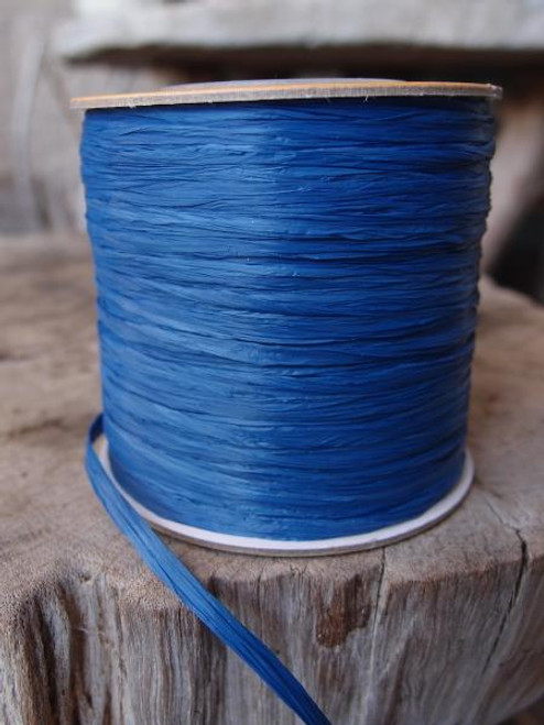 Royal Blue Matte Raffia Ribbon