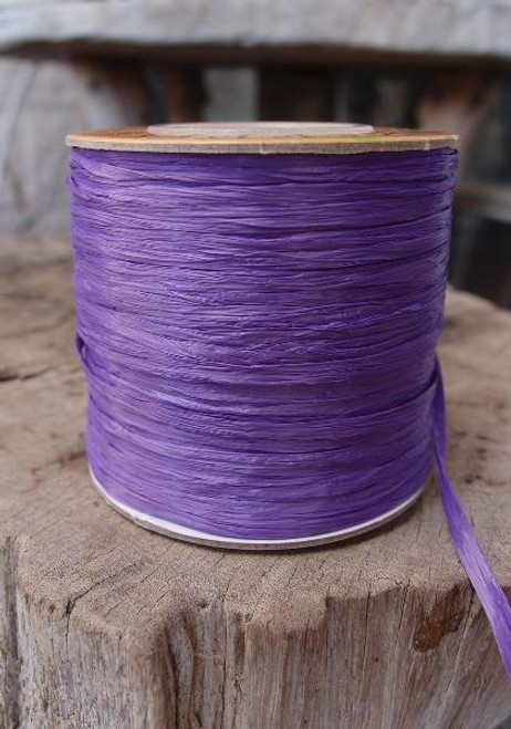 Purple Matte Raffia Ribbon