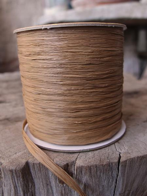 Antique Gold Matte Raffia Ribbon