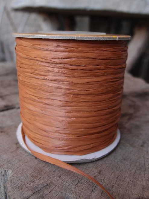 Copper Matte Raffia Ribbon