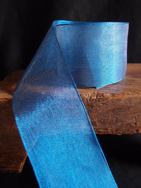 Royal Blue Metallic Sheer w/Wire Ribbon (2 sizes)