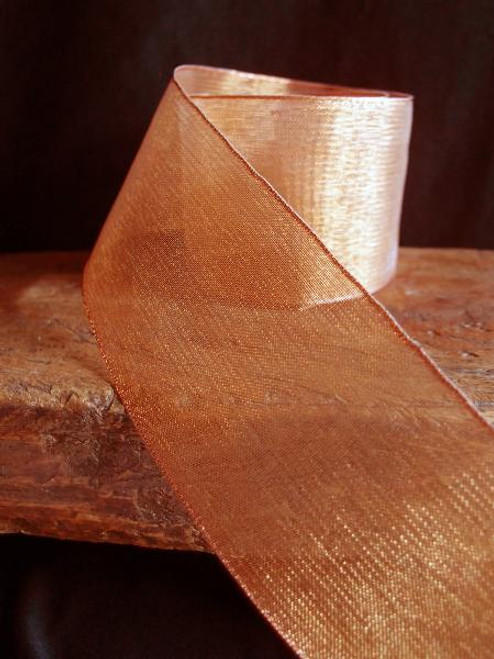 Copper Metallic Sheer w/Wire Ribbon (2 sizes)