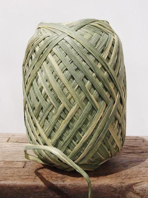 Green Paper Raffia Roll