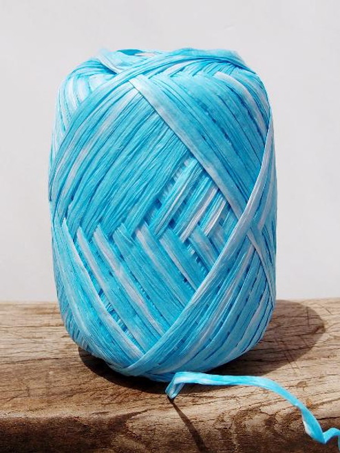 Blue Paper Raffia Roll