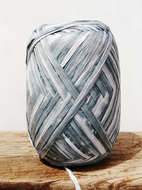 Gray Paper Raffia Roll