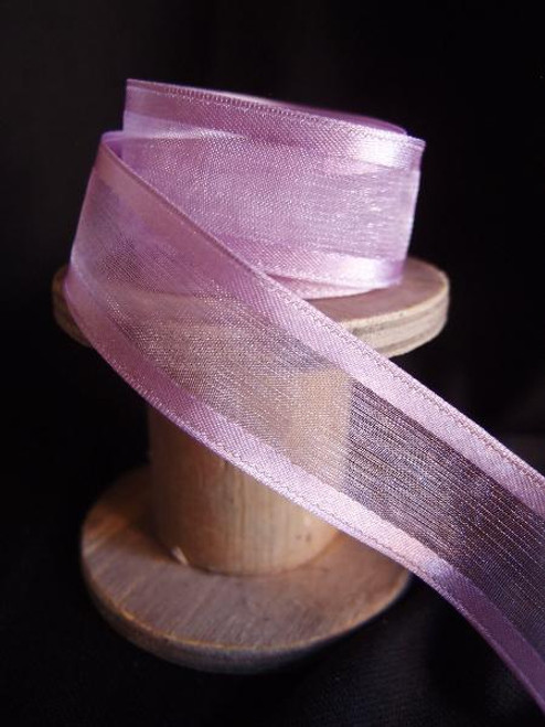 Lavender Sheer Ribbon with Satin Wired Edge (3 sizes)