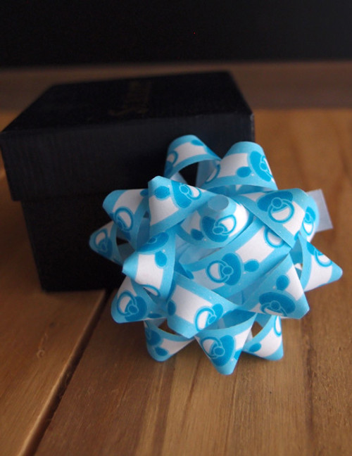 "Baby Shower Blue 2"" Star Bows"