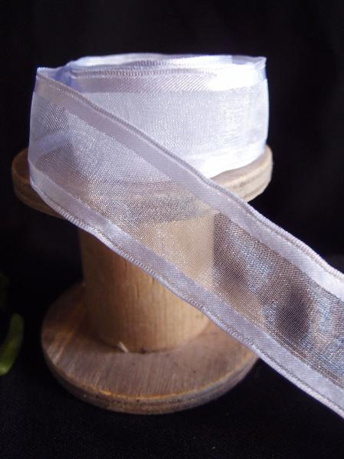 Iris Sheer Ribbon with Satin Wired Edge (3 sizes)