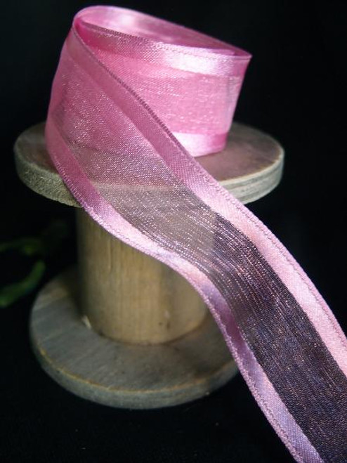Azalea Sheer Ribbon with Satin Wired Edge (3 sizes)