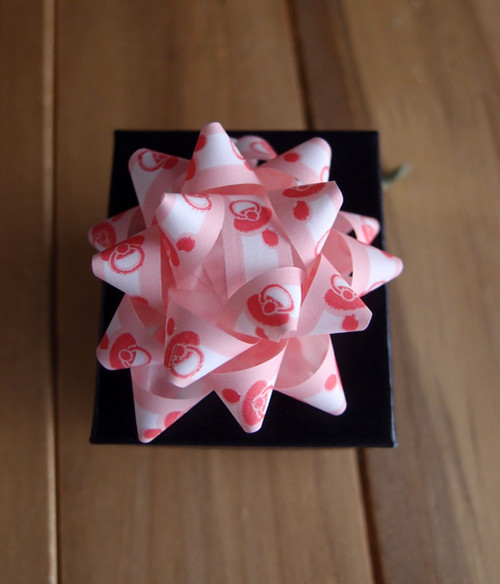 "Pink & White Baby Shower 2"" Star Bows"
