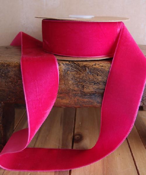 Hot Pink Velvet Ribbon (3 sizes)
