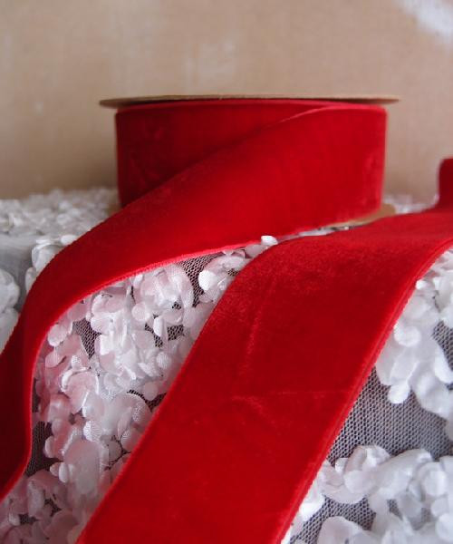 Wholesale Red Velvet Ribbon, Wholesale Velvet Ribbon, Wholesale Ribbon Supplier | Packaging Decor