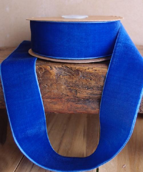 Royal Blue Velvet Ribbon (3 sizes)